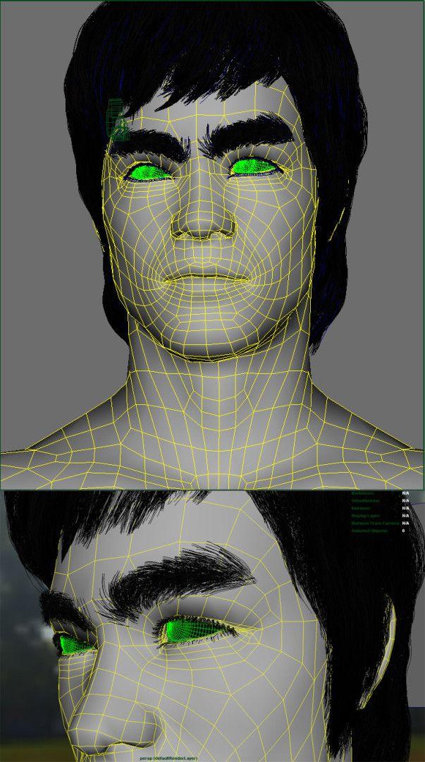 """3D_Bruce_Lee_LowPoly-603x1080 3D Bruce Lee - """"Portrait"""""""