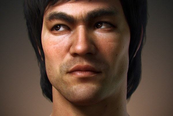 3d character Bruce Lee