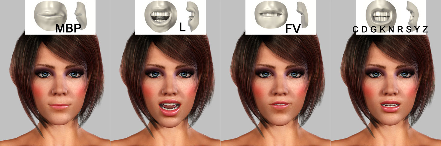 "3d-face-animation Virtueller 3D Character - ""3D Girl"""