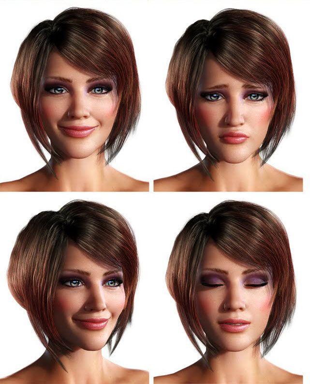 """3d-facial-expressions Virtueller 3D Character - """"3D Girl"""""""