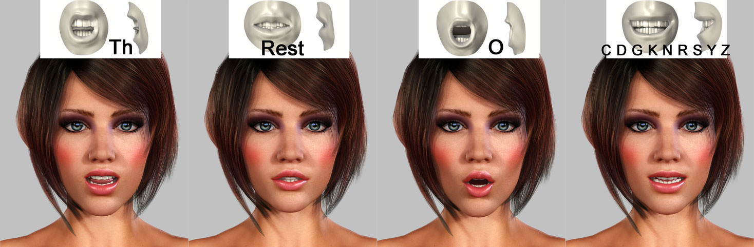 "3d-girl-face-animation Virtueller 3D Character - ""3D Girl"""