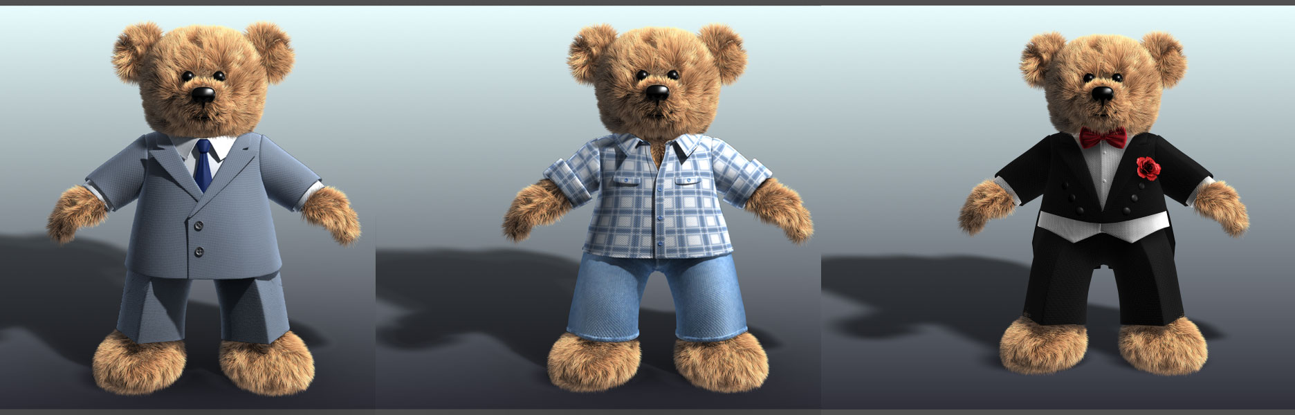 "3d-teddy-model Camera tracking, Charakter ""Teddy for Dorint"""