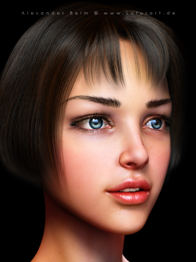 """JungGirl1 """"Young Girl"""" - 3D Character"""