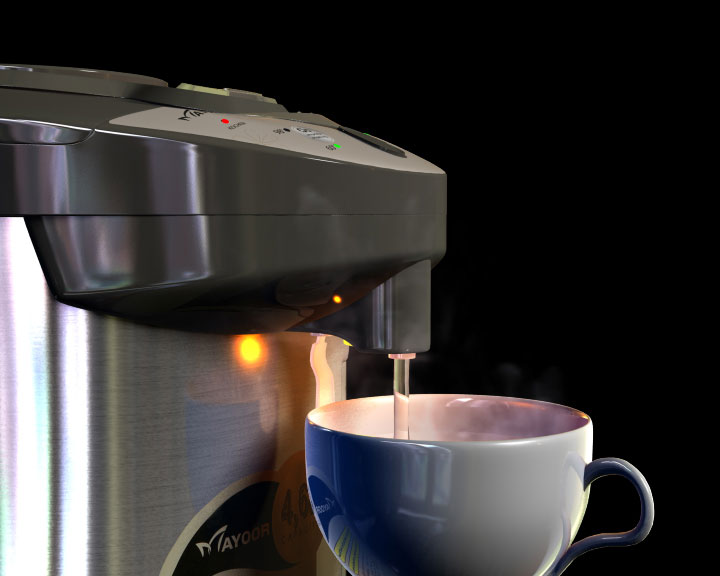 Mayoor-teapot Mayoor 3D Produktvisualisierung
