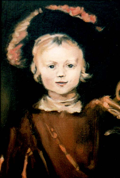 "Rembrant ""Young Boy"" Ölgemälde Replik"