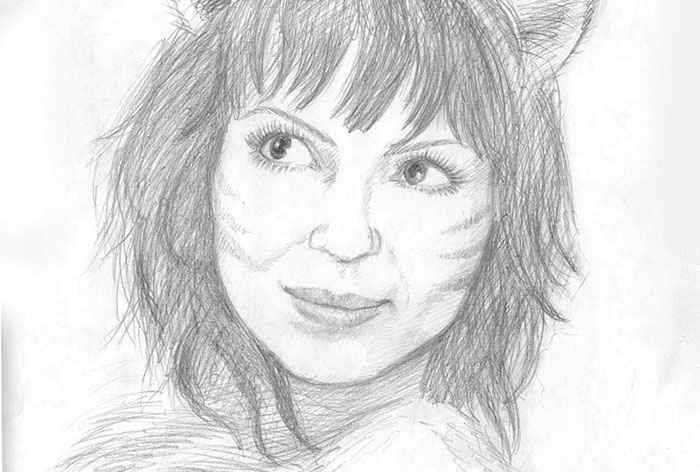 """Helena"" pencil portrait"