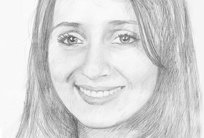 """Anna"" pencil portrait"