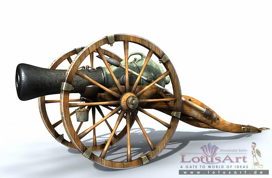 cannon 3D Modellierung der Kanone