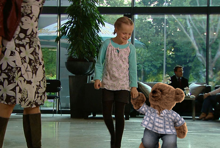 "Camera tracking, Charakter ""Teddy for Dorint"""
