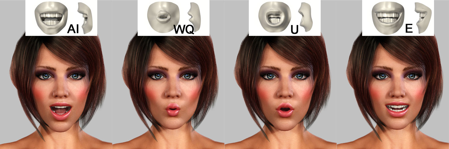 "face-animation Virtueller 3D Character - ""3D Girl"""