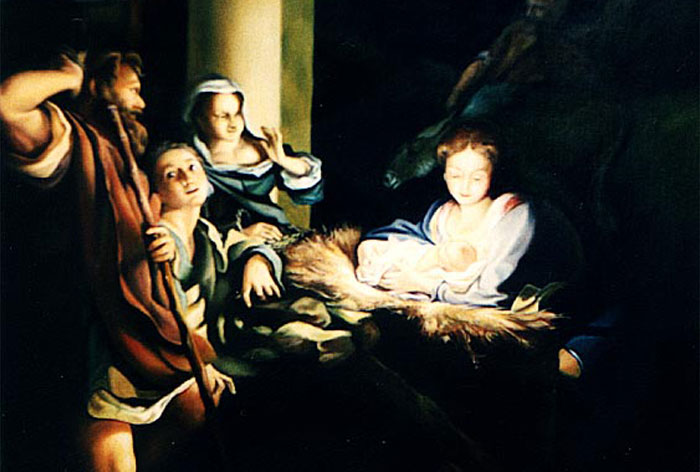 """The birth of Jesus"" oil painting replica"