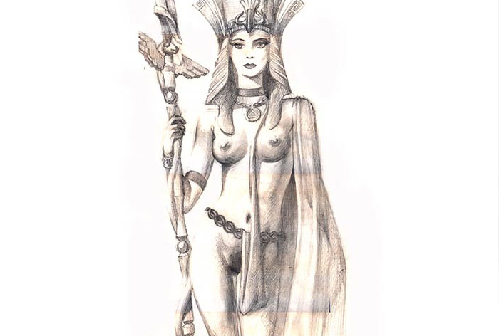 """Cleopatra"" pencil drawing"