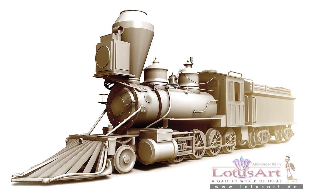 """lokomotive 3D Grafik von einer """"Lokomotive"""""""
