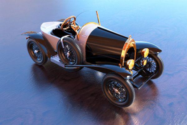 modellauto bugatti 3d
