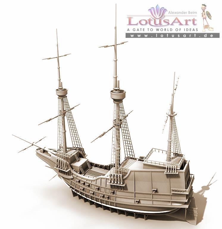 """ship 3D Design von einem """"Schiff"""""""