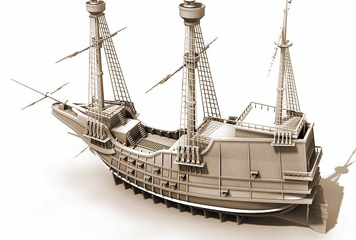 "3D Design of ""Ship"" Model"