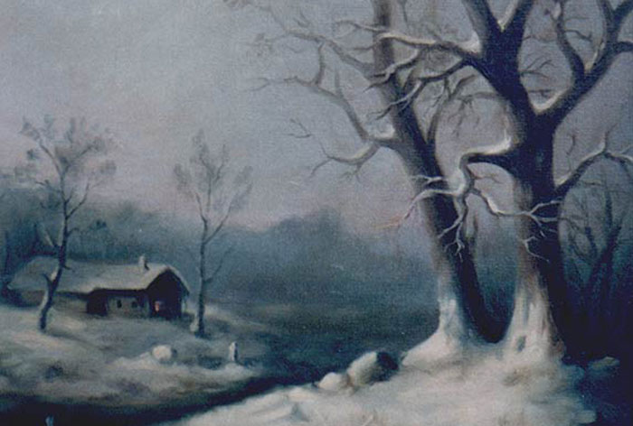 """Winter"" Oil Painting"