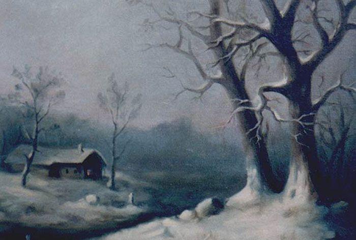 """Winter"" Ölgemälde"