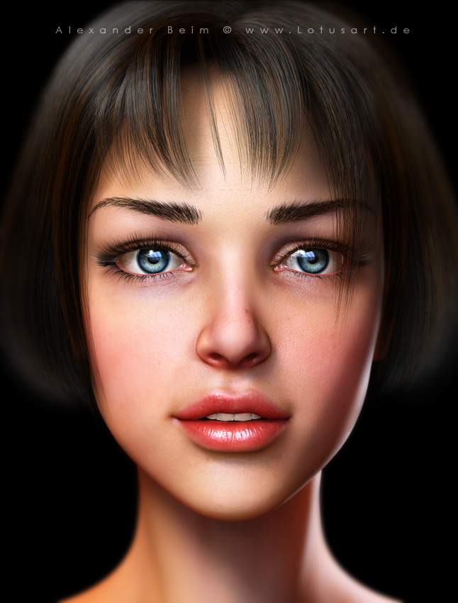 """young_girl """"Young Girl"""" - 3D Character"""