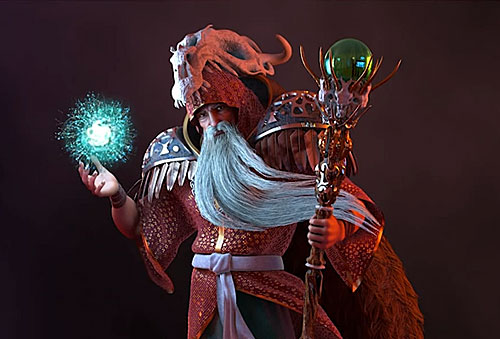 """WIZARD"" – 3D Charakter Model"