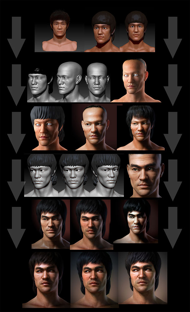 "3d-character-bruce-lee-portrait 3D Bruce Lee - ""Portrait"""
