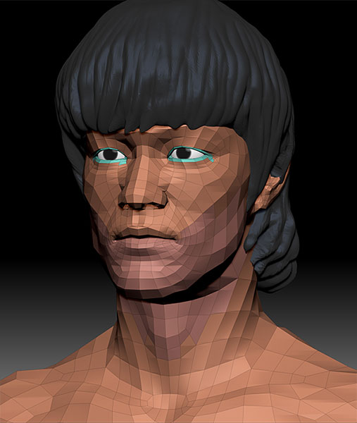 bruce-lee-character-basic-model 3D Portrait