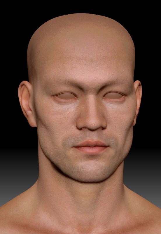 bruce-lee-texture-face-zbrush 3D Charakter Animation