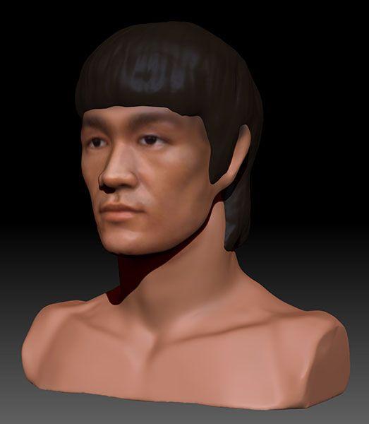 character-bruce-lee-dynamesh-zbrush-01 3D Portrait