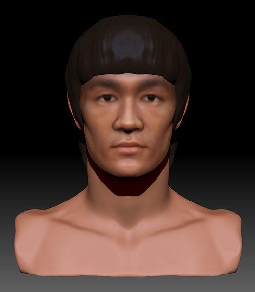 character-bruce-lee-dynamesh-zbrush 3D Portrait