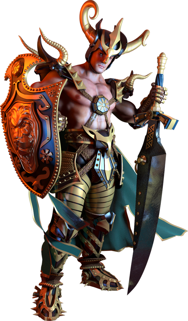 warrior-game-3d-character