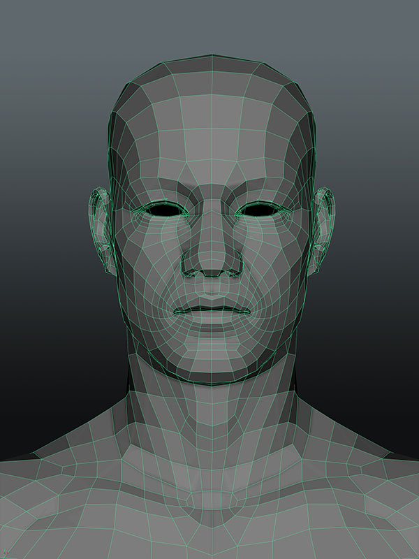 low-poly-3d-character-head 3D Portrait
