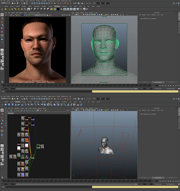 maya-screenshot-bruce-lee-3d-character 3D Portrait