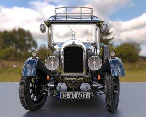 """3d-animation-car-300x240 Oldtimer 3D Auto Modell """"ENGELCAR"""""""