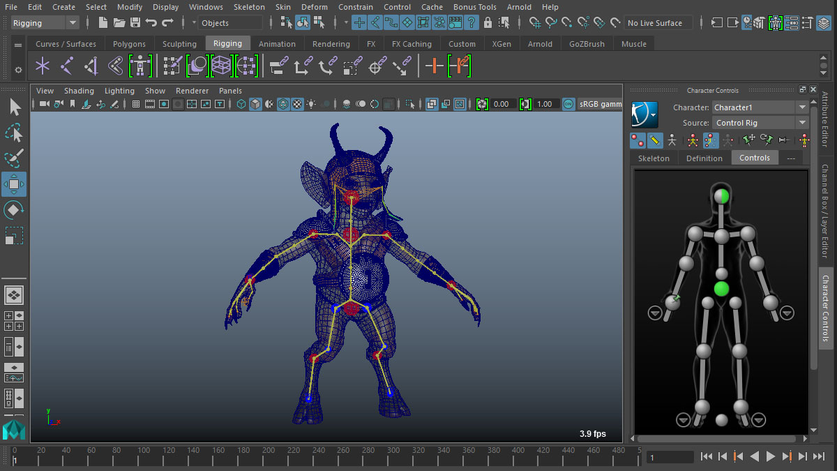 Rigging 3d animation