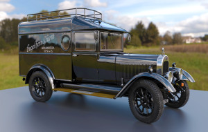 """3d-auto-300x191 Oldtimer 3D Auto Modell """"ENGELCAR"""""""
