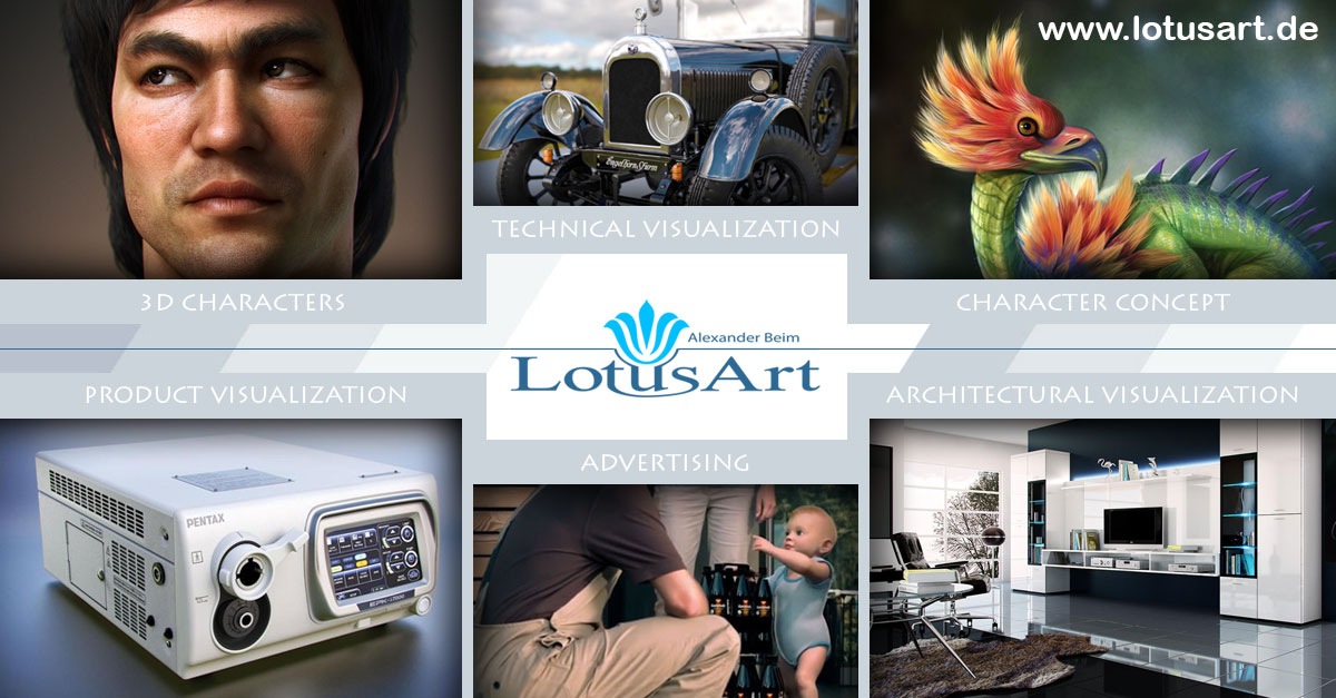 LotusArt_Share 3D VISUALISIERUNG - 3D ANIMATION - 3D CHARACTER STUDIO