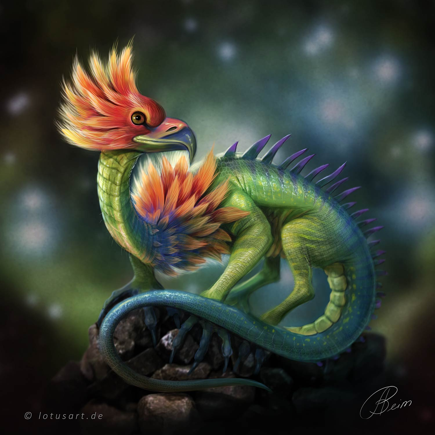 "character-design-creature ""Fabelwesen Konzept"" Illustration"