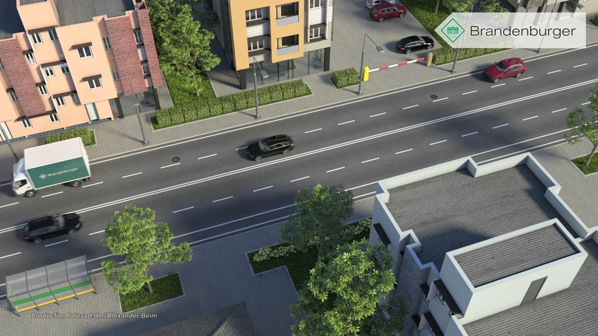 "Brandenburger-Liner-digitale-strasse-strassenverkehr-3D-visualisierung Brandenburger ""UV Liner"""