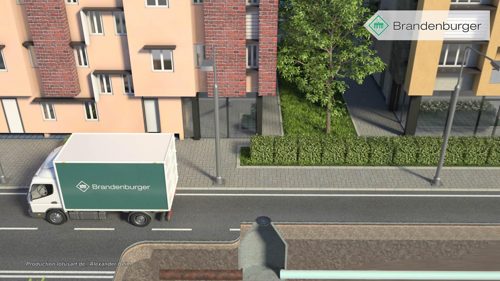 """kanalsanierung-fahrzeug-service-auto-reinigungsfahrzeug-3D Brandenburger """"UV Liner"""""""