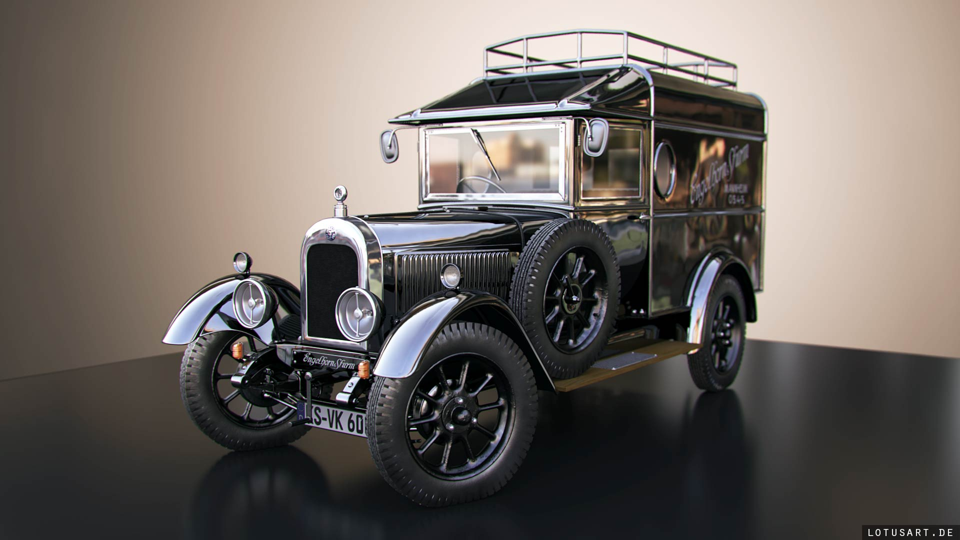oldtimer-3d-car-visualisierung 3D VISUALISIERUNG - 3D ANIMATION - 3D CHARACTER STUDIO