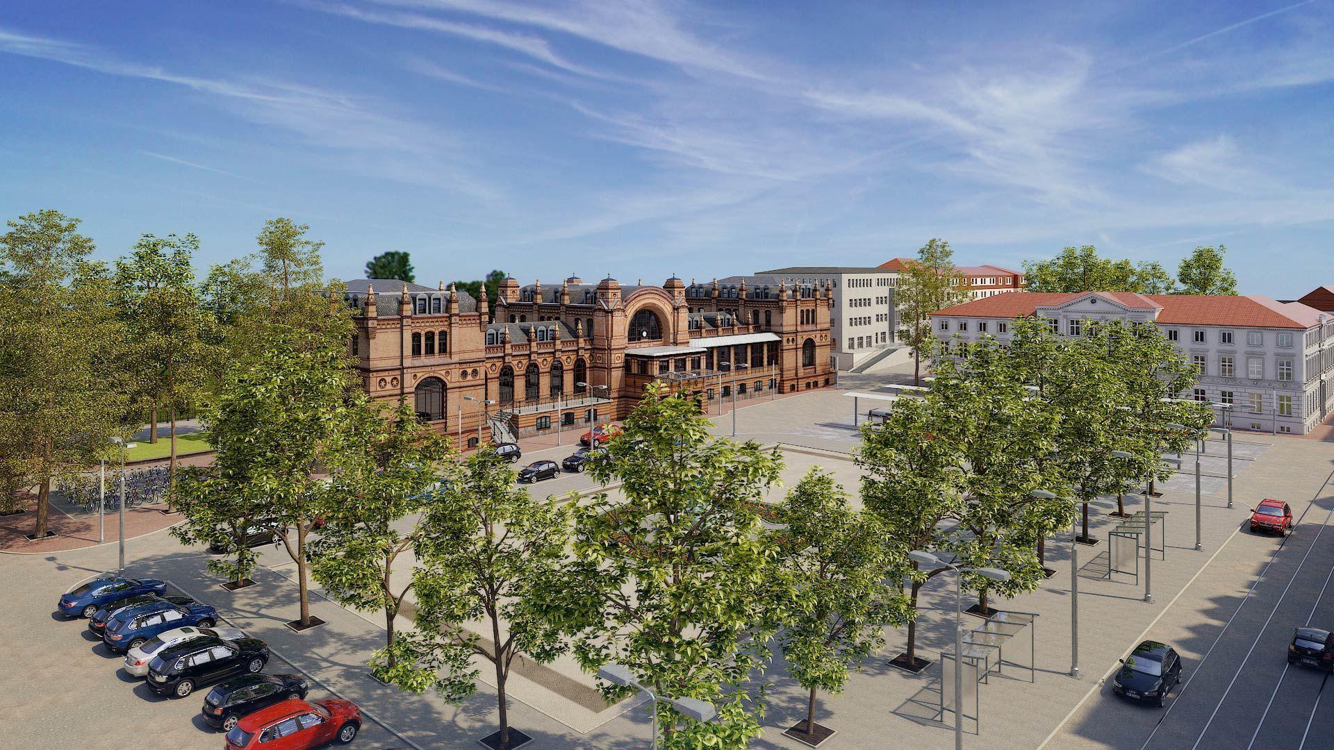 3D_Architekturvisualisierung_Schwerin_Grunthalplatz Schwerin Grunthalplatz 3D Architekturvisualisierung