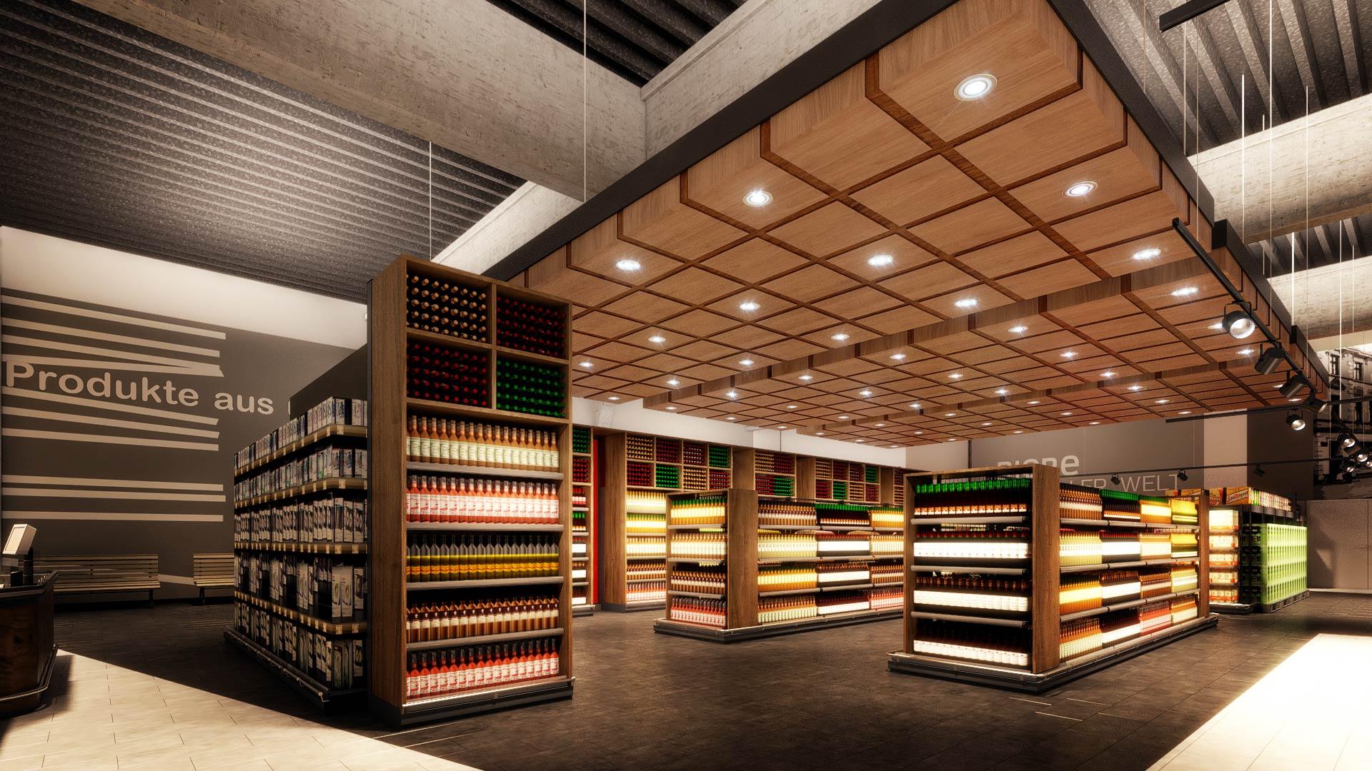 3D_Architekturvisualisierung_interior_EDEKA_Iserlohn_wein_Innenausbau EDEKA Iserlohn Innenarchitektur
