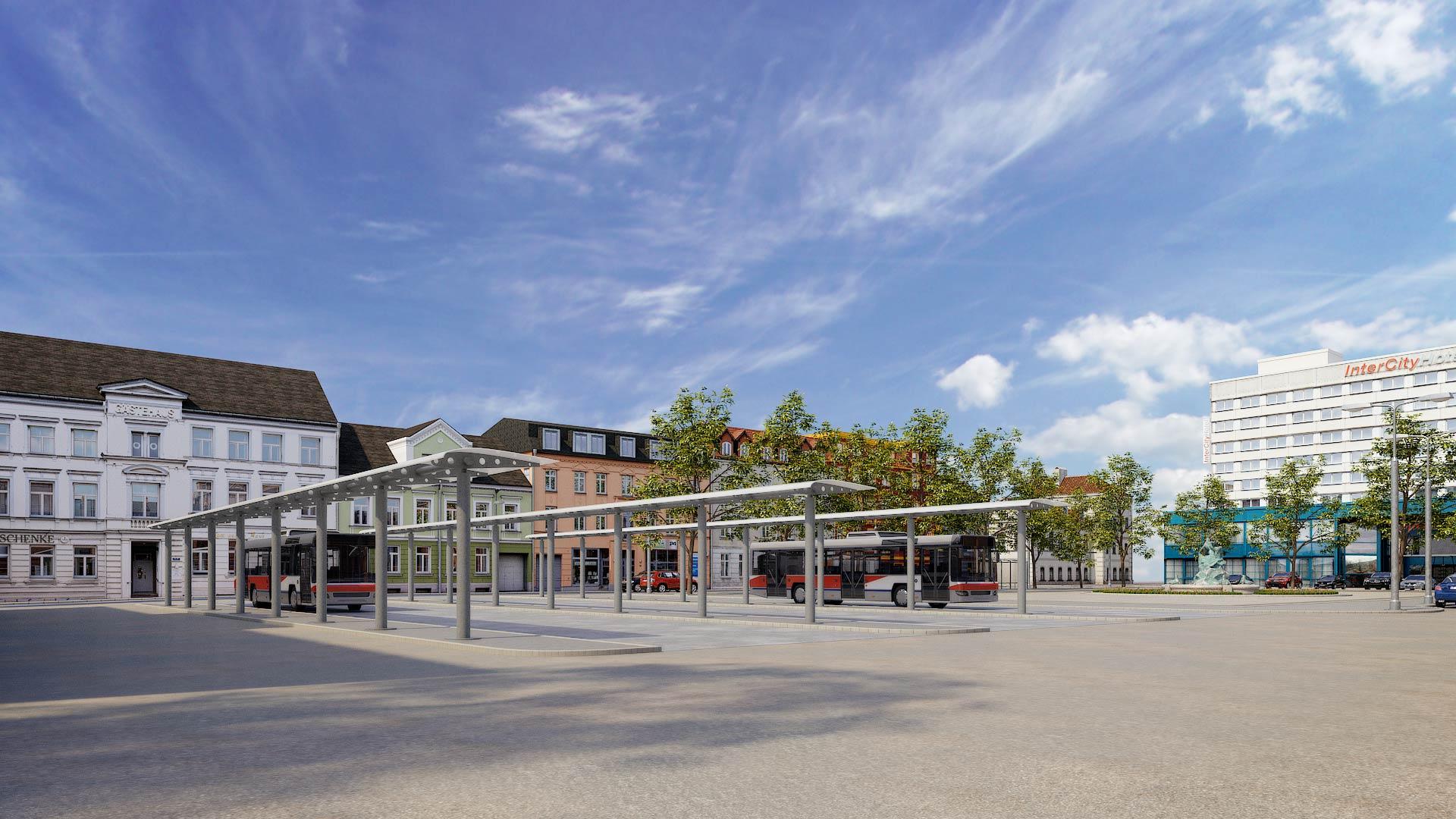 Bahnhof_Grunthalplatz_Schwerin_3D_Architekturvisualisierung Schwerin Grunthalplatz 3D Architekturvisualisierung