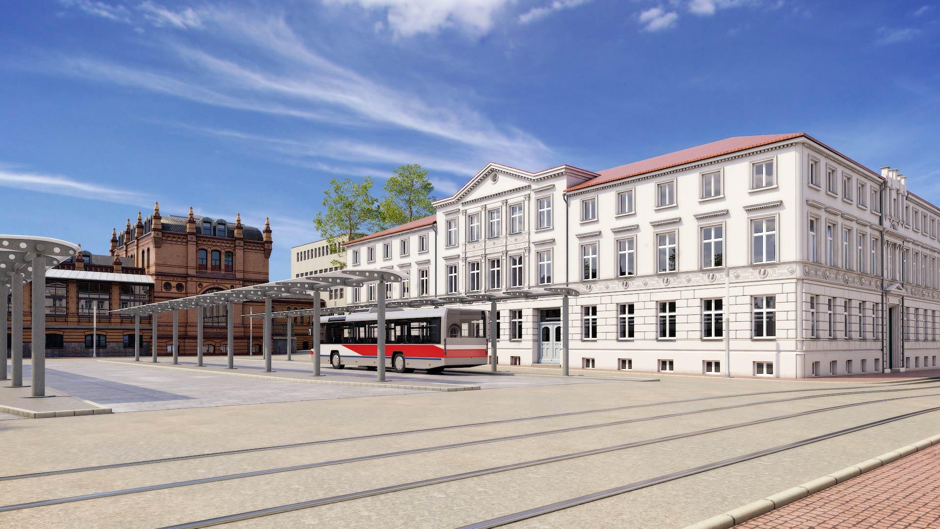 Haus_Grunthalplatz_Wismarsche_Strasse_3D_Architekturvisualisierung_Schwerin Schwerin Grunthalplatz 3D Architekturvisualisierung