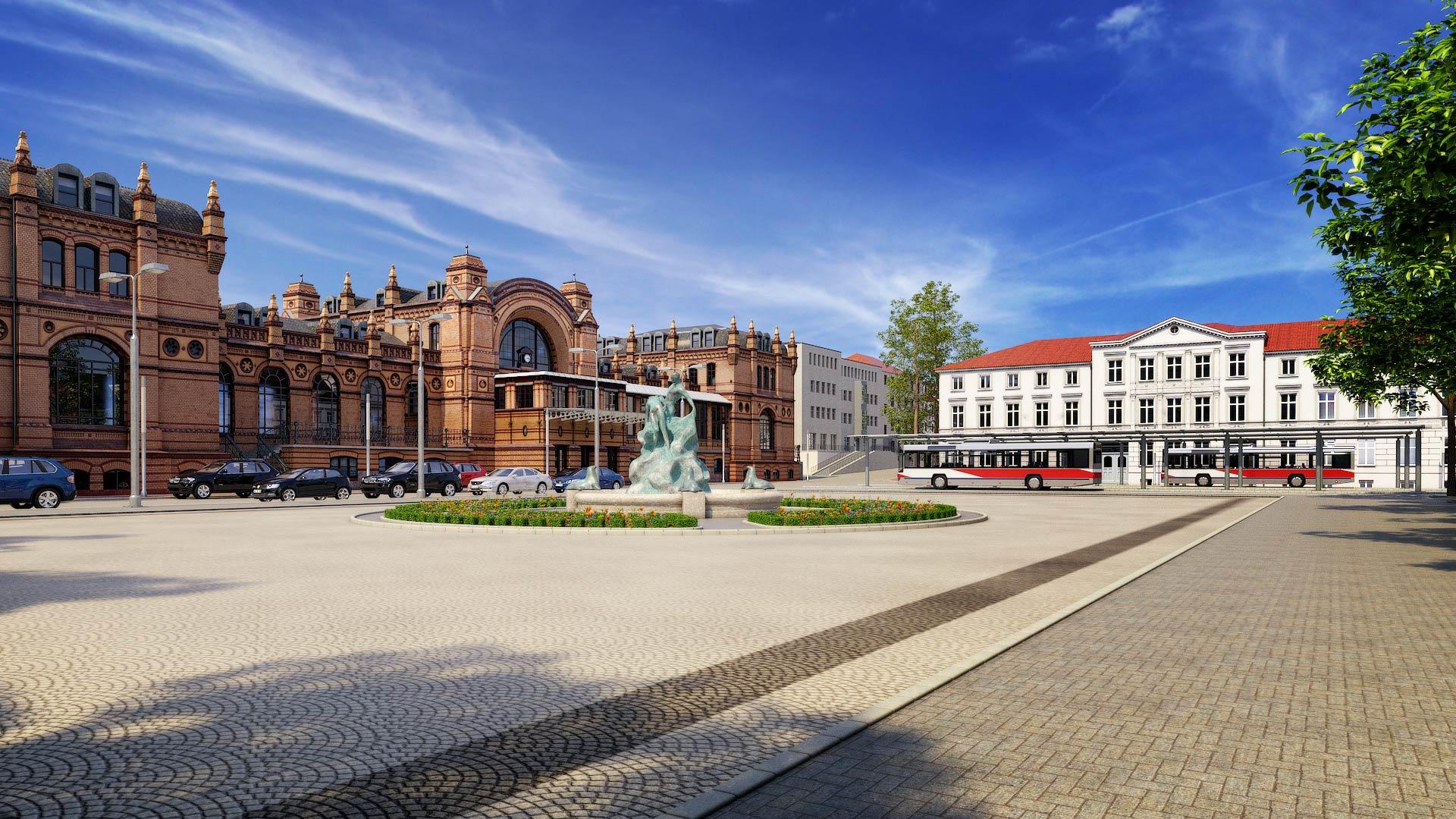Schwerin_Rettung_aus_Seenot_3D_Architekturvisualisierung Schwerin Grunthalplatz 3D Architekturvisualisierung