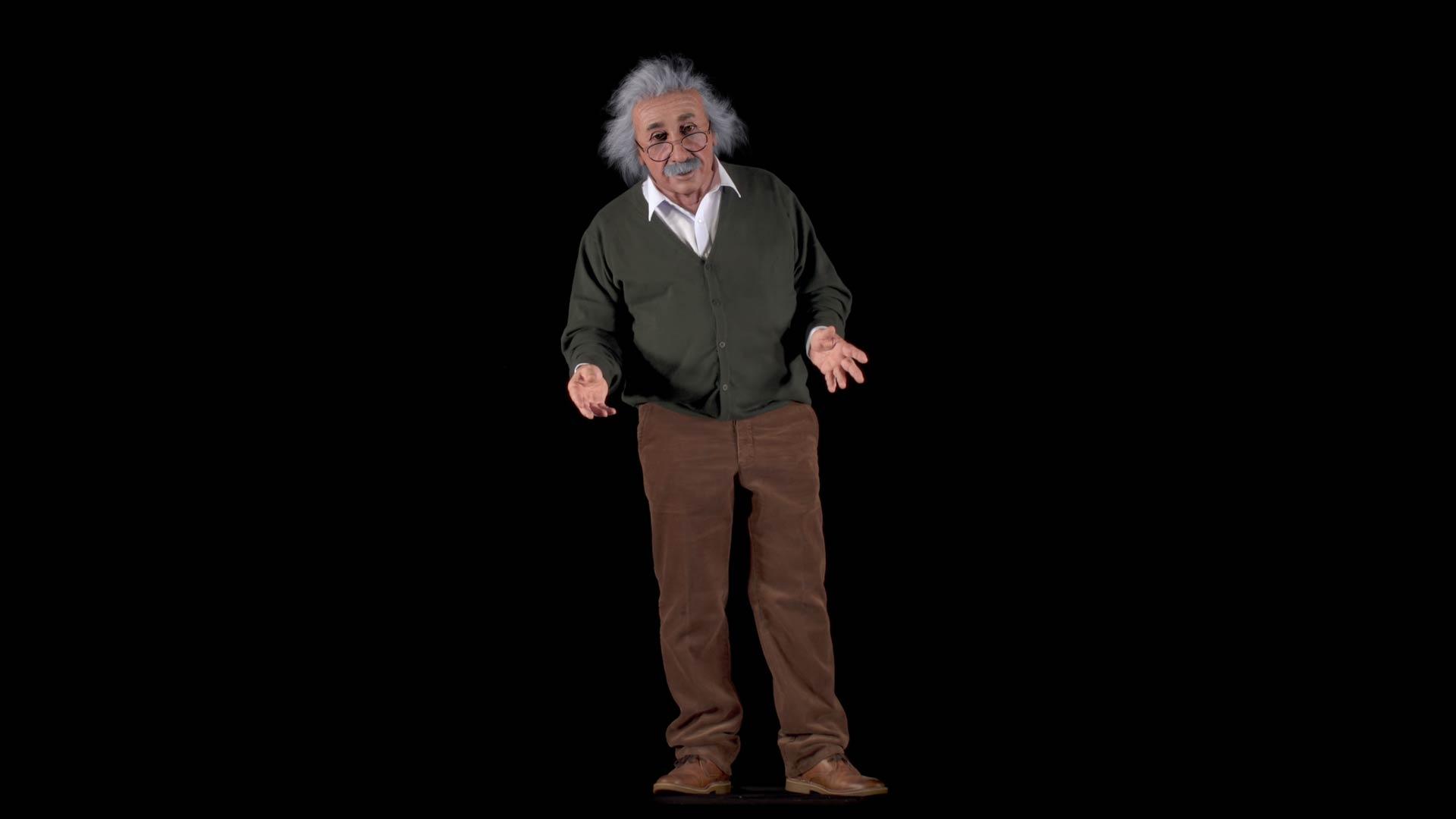 Matching_Albert_Einstein_3D_Head_to_an_Actor Albert Einstein 3D Porträt für ein Hologram