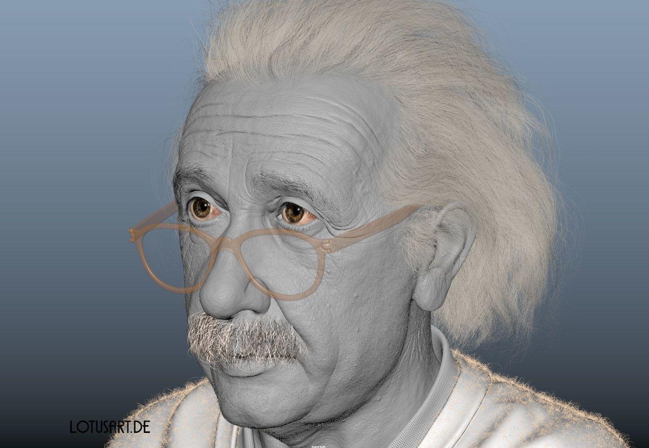 alexander-beim-alberteinstein-lotusart-alexanderbeim-screen-01 Albert Einstein 3D Porträt für ein Hologram