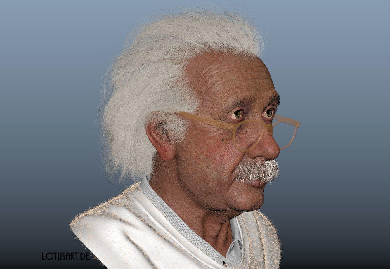 alexander-beim-alberteinstein-lotusart-alexanderbeim-screen-05 Albert Einstein 3D Porträt für ein Hologram