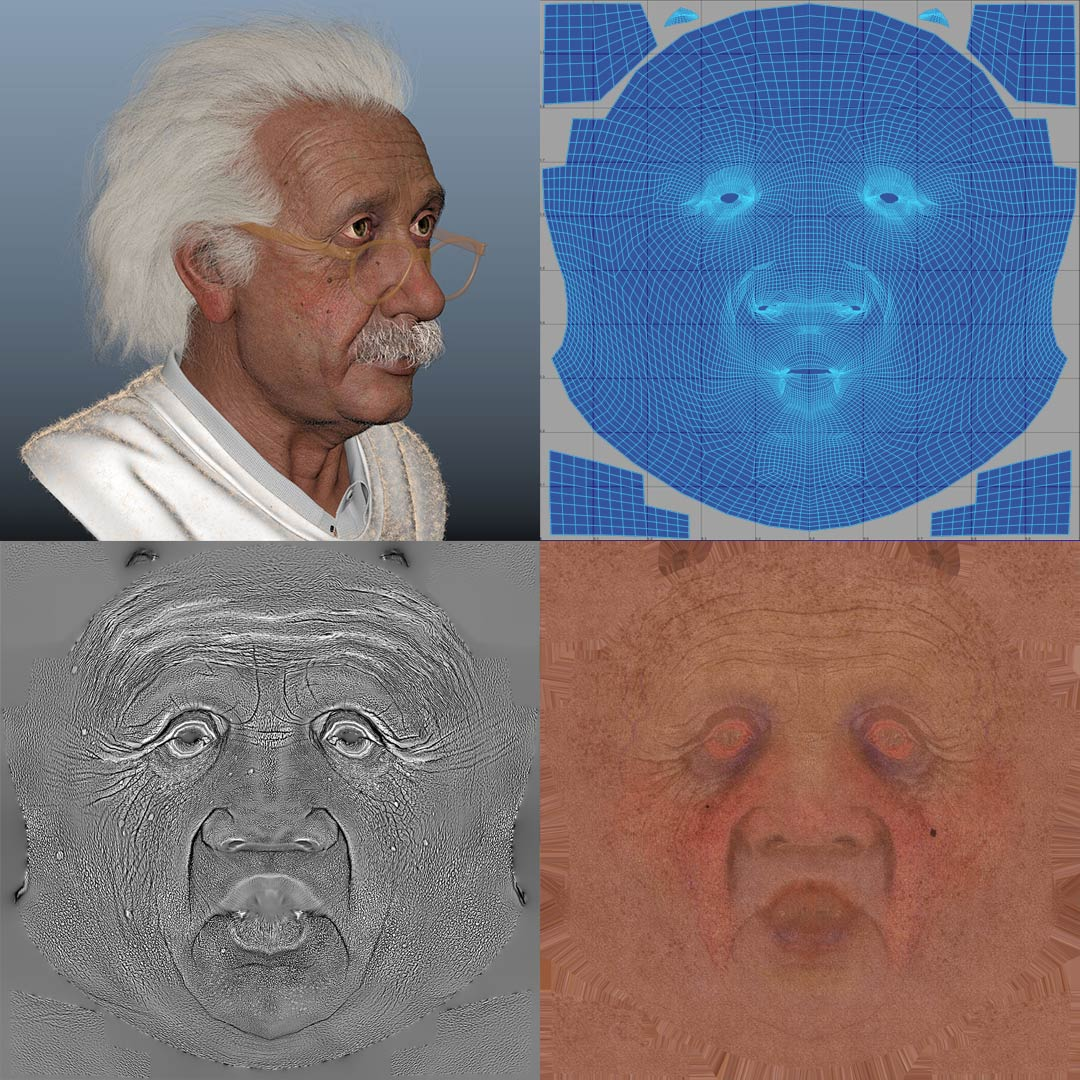 uv_mapping_texture_unwrap_3d_character 3D Character
