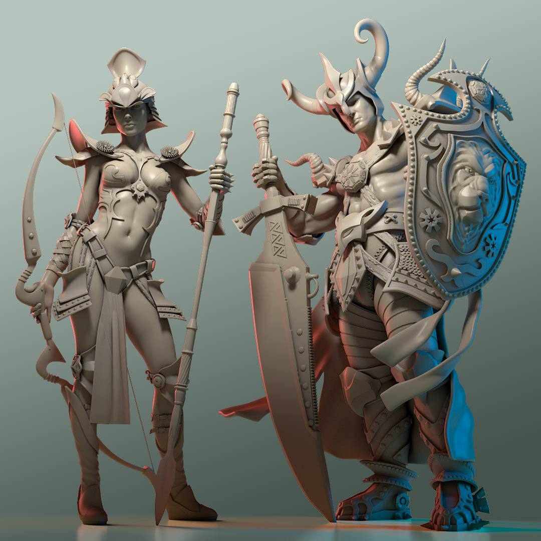 zbrush_character_sculpt_marmor_warrior_amazone 3D Character